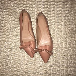Nude leather Banana Republic tassel flat